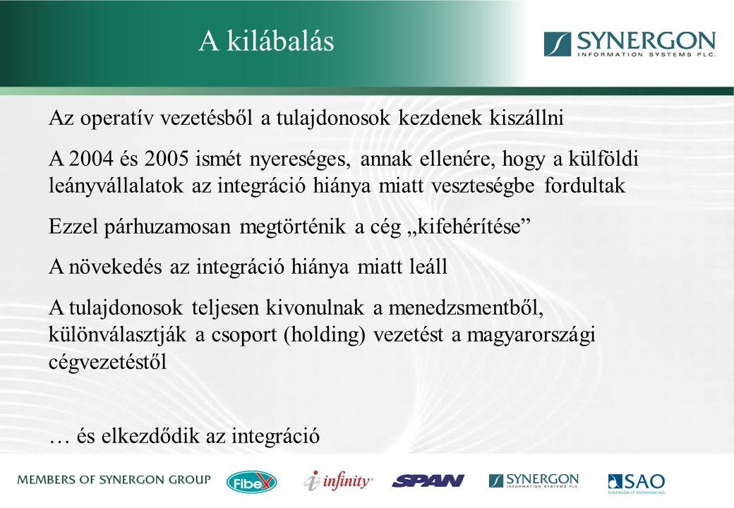 A kilábalás Synergon Group, Synergon Information Systems Plc.