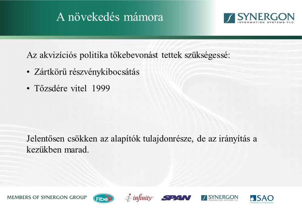 Synergon Group, Synergon Information Systems Plc. A nagy ugrás