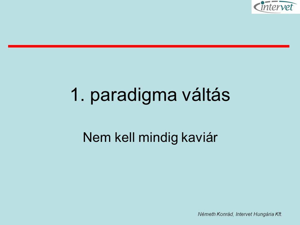 1. paradigma váltás Nem kell mindig kaviár