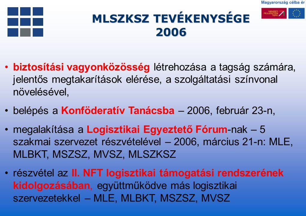 MLSZKSZ TEVÉKENYSÉGE 2006.