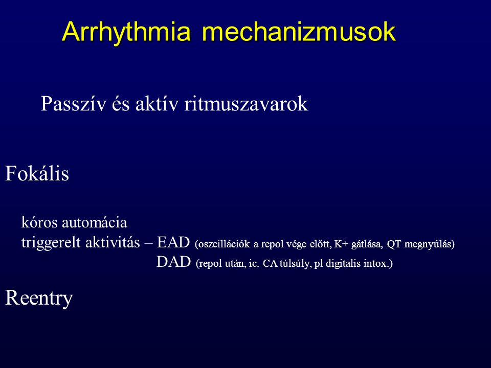 Arrhythmia mechanizmusok