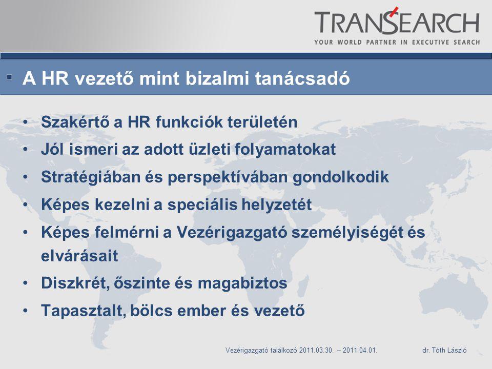 A HR vezető mint bizalmi tanácsadó
