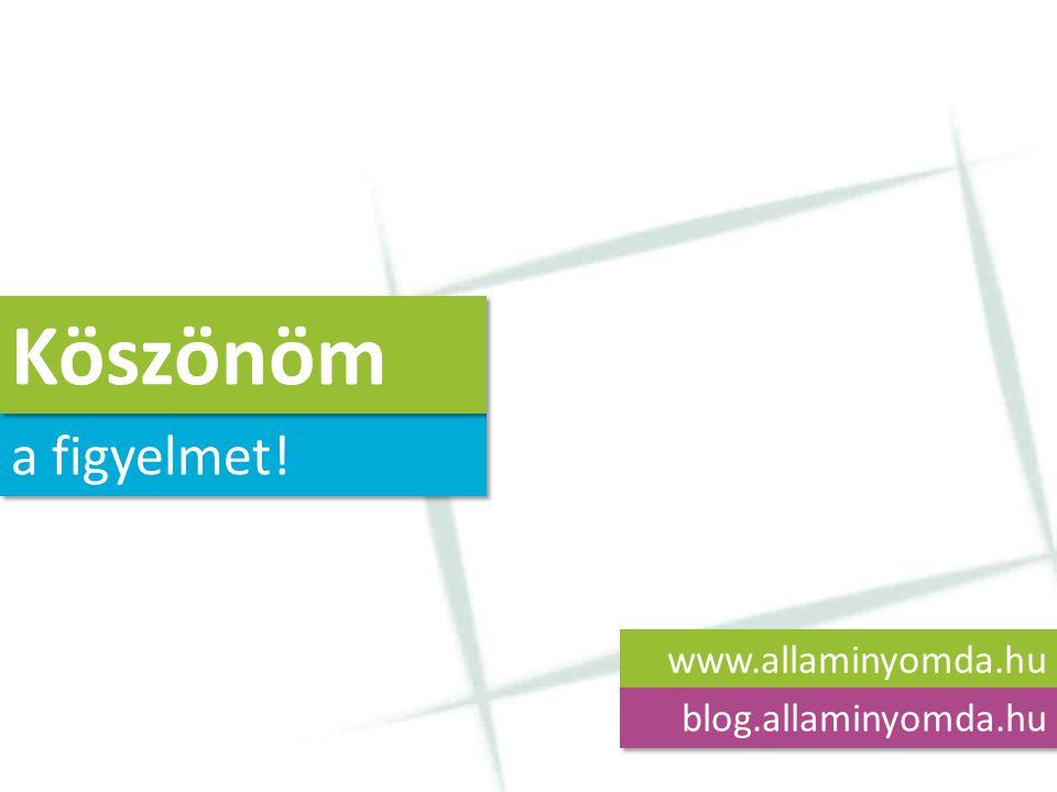 Köszönöm a figyelmet! Köszönjük a figyelmet! www.allaminyomda.hu