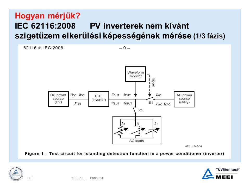 Hogyan mérjük IEC 62116:2008 PV inverterek nem kívánt szigetüzem elkerülési képességének mérése (1/3 fázis)