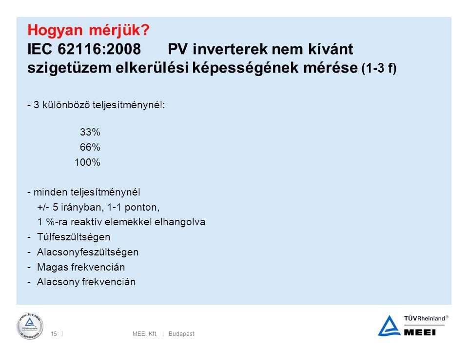 Hogyan mérjük IEC 62116:2008 PV inverterek nem kívánt szigetüzem elkerülési képességének mérése (1-3 f)