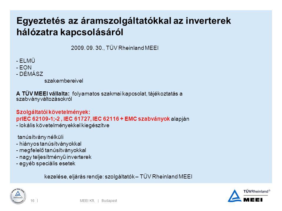 Egyeztetés az áramszolgáltatókkal az inverterek hálózatra kapcsolásáról