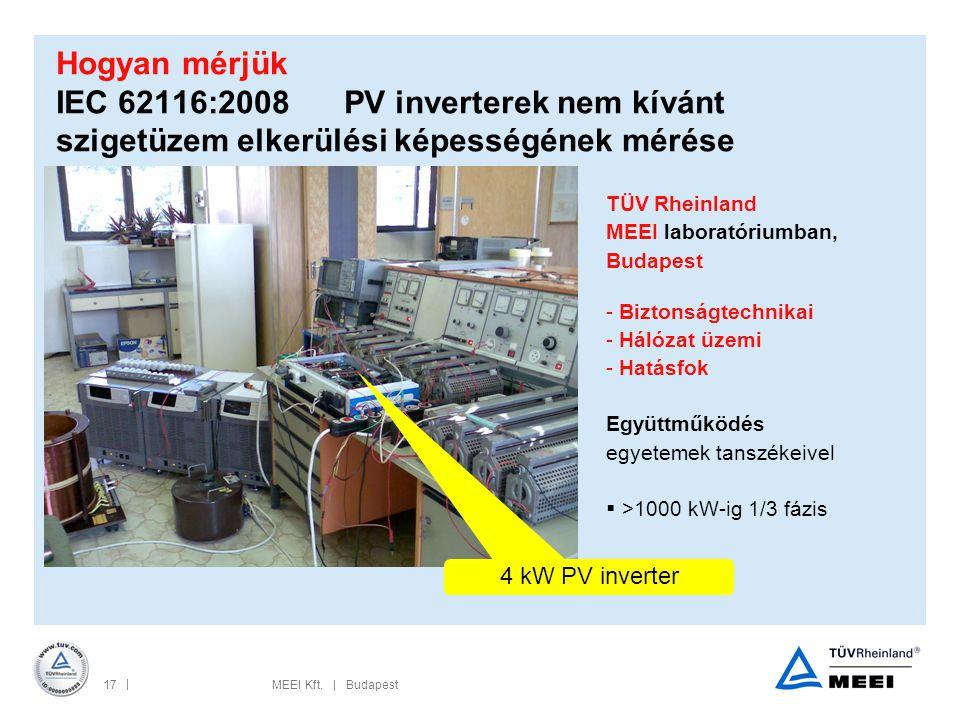 Hogyan mérjük IEC 62116:2008 PV inverterek nem kívánt szigetüzem elkerülési képességének mérése