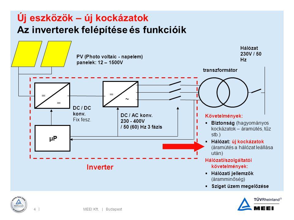 Új eszközök – új kockázatok Az inverterek felépítése és funkcióik