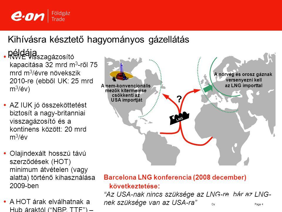Kihívásra késztető hagyományos gázellátás példája