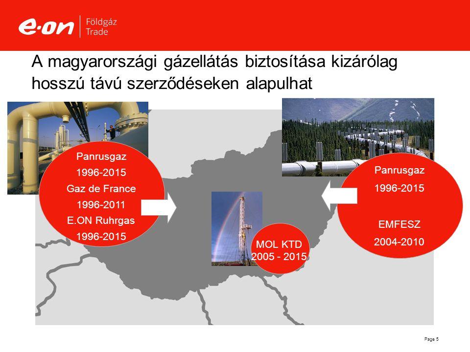 A magyarországi gázellátás biztosítása kizárólag hosszú távú szerződéseken alapulhat
