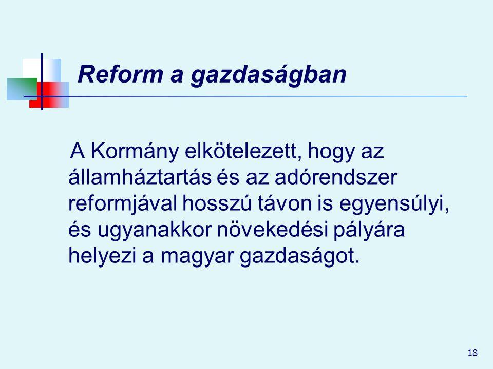 Reform a gazdaságban