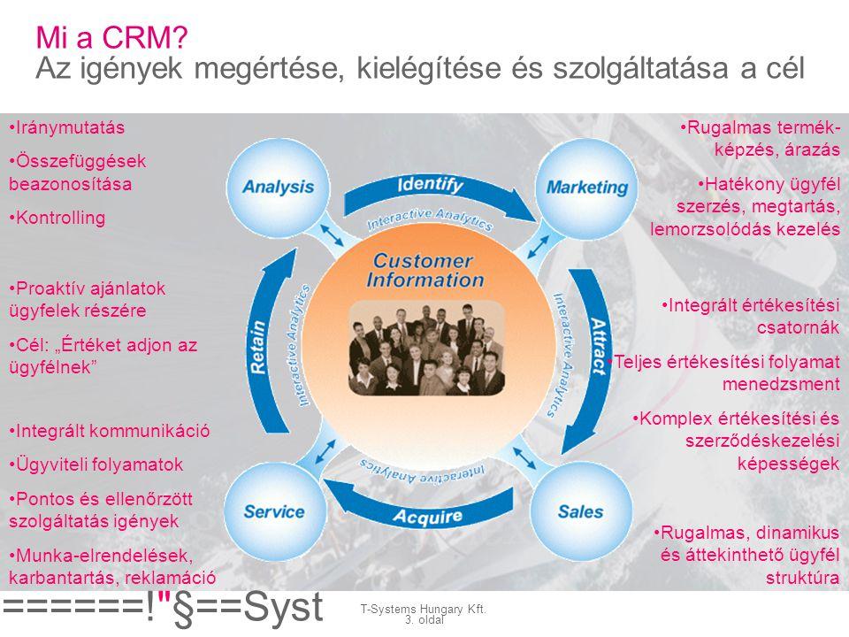 Mi a CRM Az igények megértése, kielégítése és szolgáltatása a cél
