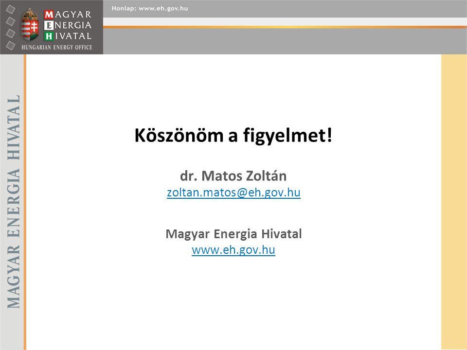 Köszönöm a figyelmet. dr. Matos Zoltán zoltan. matos@eh. gov