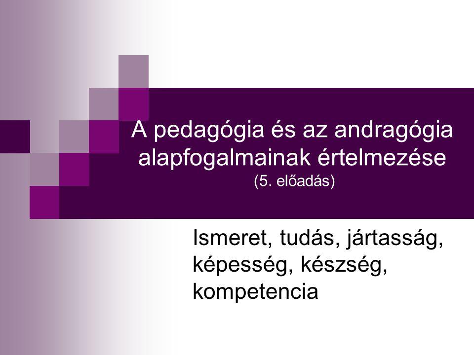 A pedagógia és az andragógia alapfogalmainak értelmezése (5. előadás)