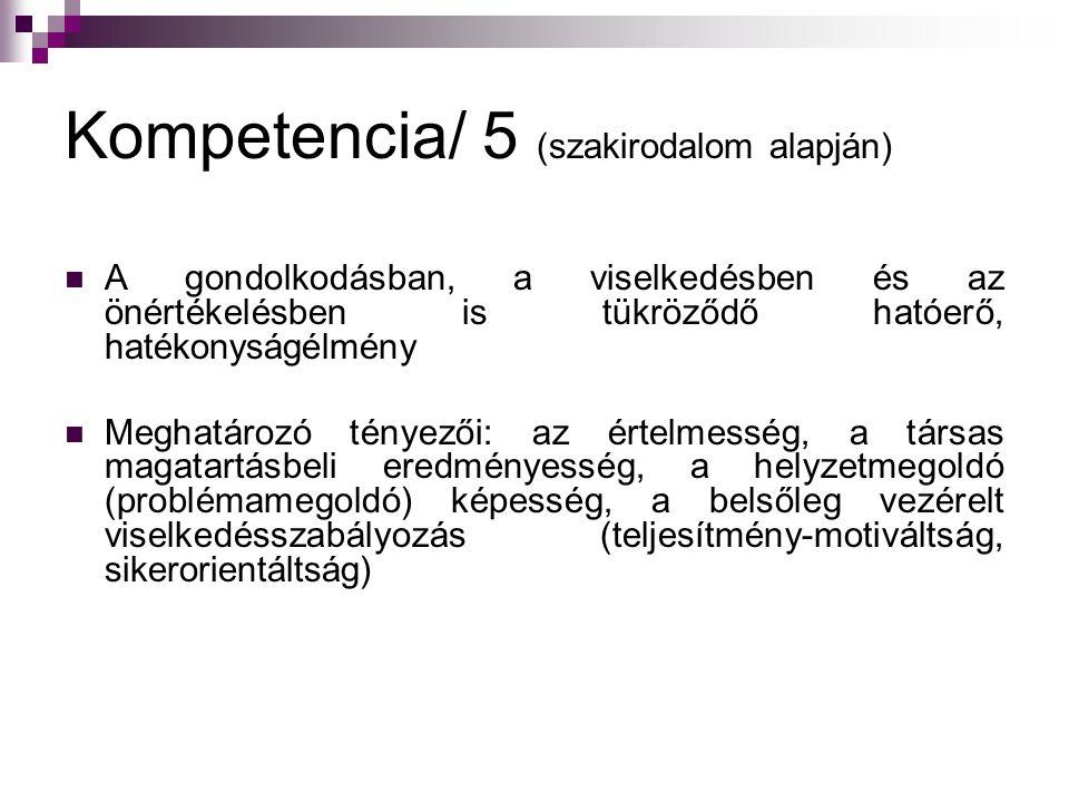 Kompetencia/ 5 (szakirodalom alapján)