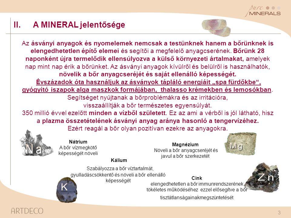Mg Na Zn K II. A MINERAL jelentősége Kálium