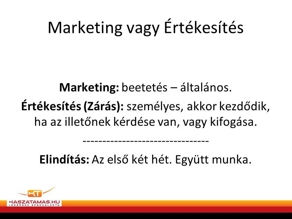 Marketing vagy Értékesítés