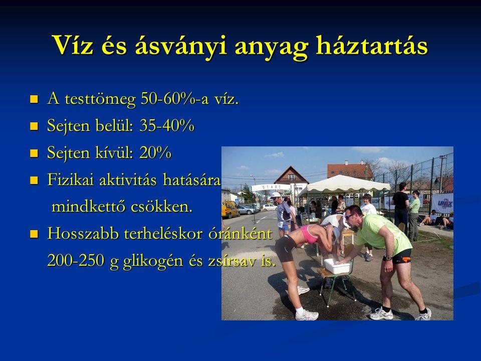 Víz és ásványi anyag háztartás