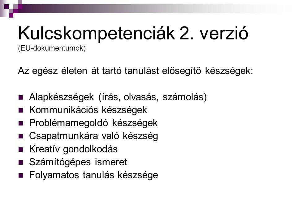 Kulcskompetenciák 2. verzió (EU-dokumentumok)