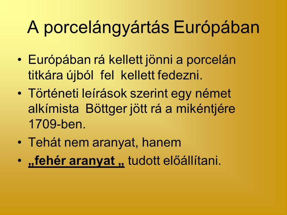 A porcelángyártás Európában
