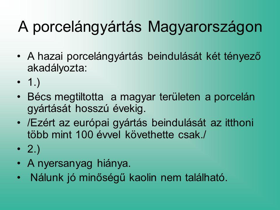 A porcelángyártás Magyarországon