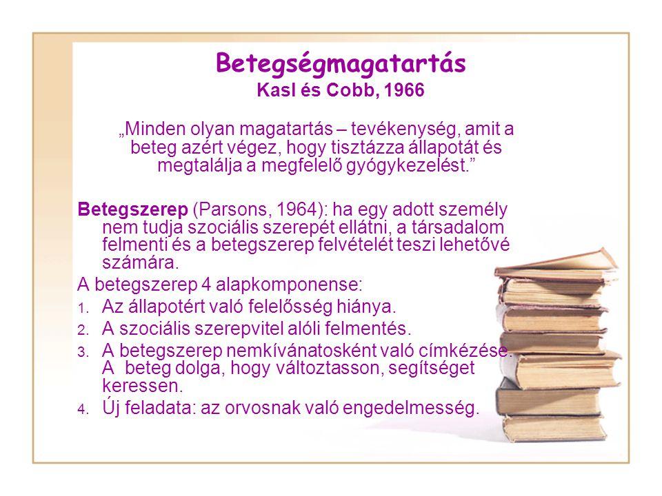 Betegségmagatartás Kasl és Cobb, 1966