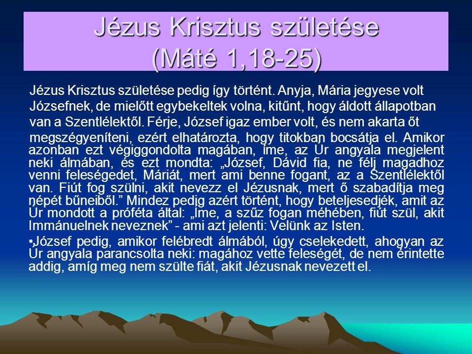 Jézus Krisztus születése (Máté 1,18-25)