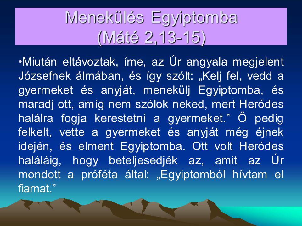 Menekülés Egyiptomba (Máté 2,13-15)