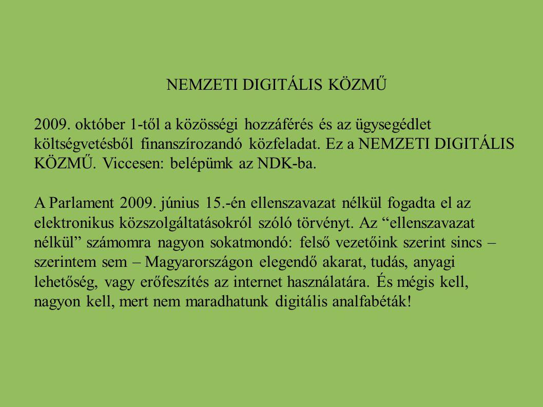NEMZETI DIGITÁLIS KÖZMŰ