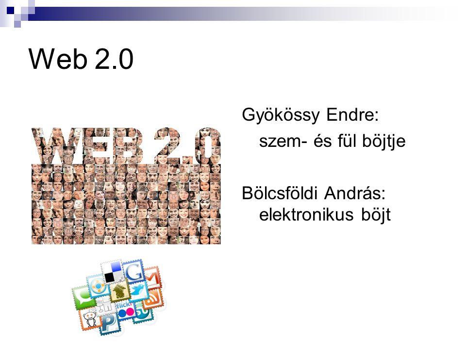 Web 2.0 Gyökössy Endre: szem- és fül böjtje
