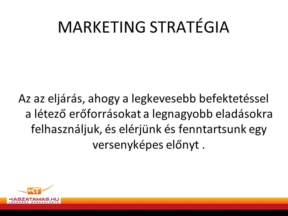 MARKETING STRATÉGIA