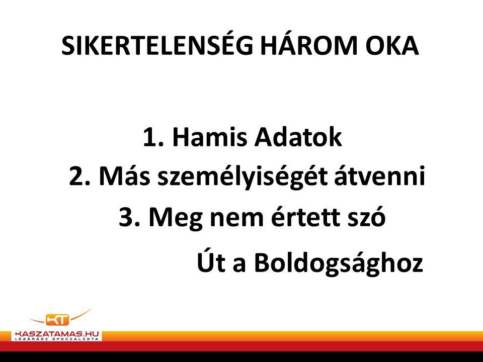 SIKERTELENSÉG HÁROM OKA