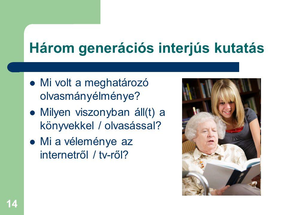 Három generációs interjús kutatás