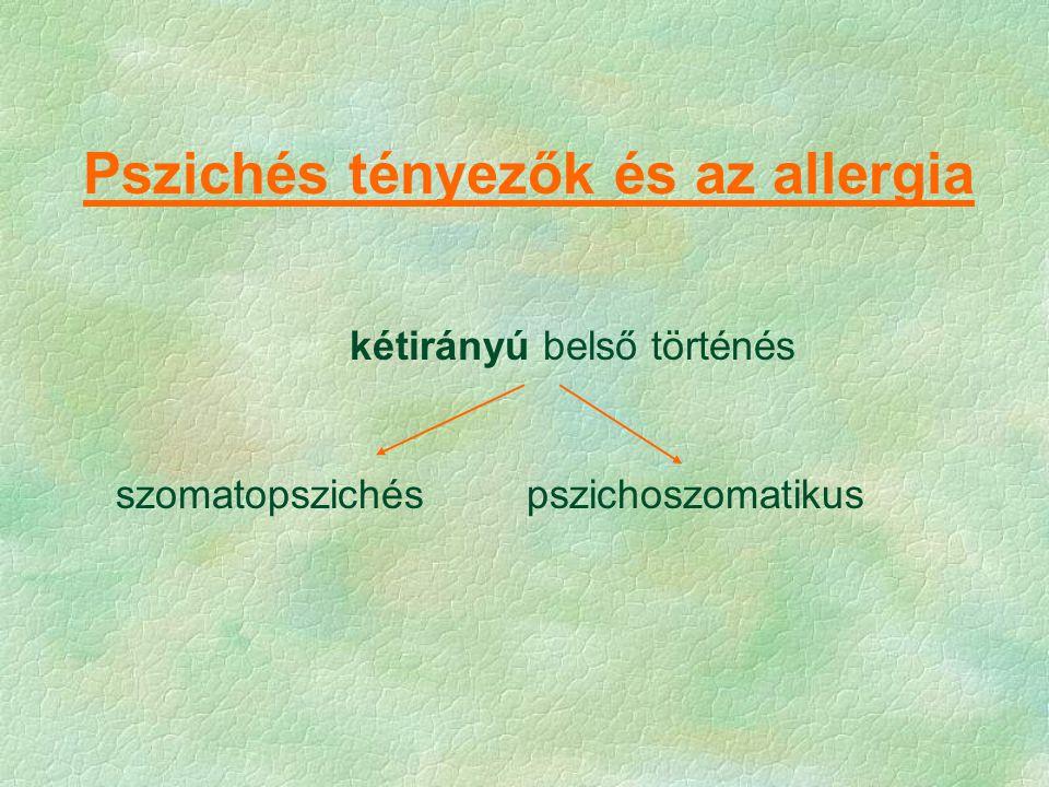 Pszichés tényezők és az allergia