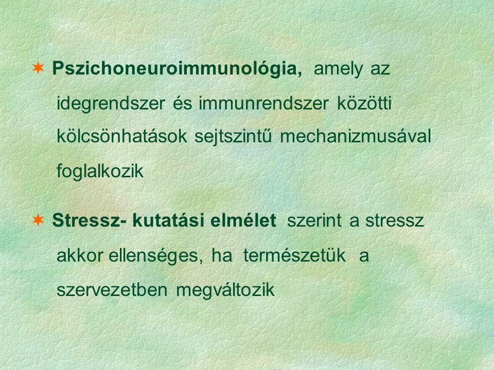 Pszichoneuroimmunológia, amely az