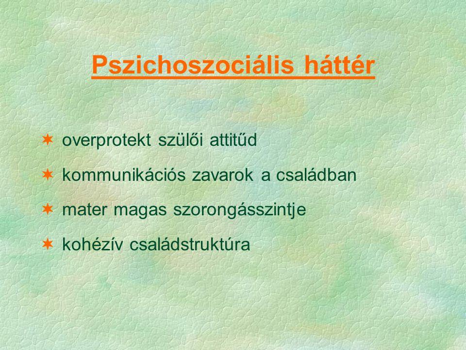 Pszichoszociális háttér