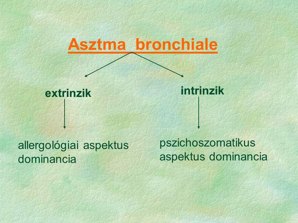 Asztma bronchiale intrinzik extrinzik