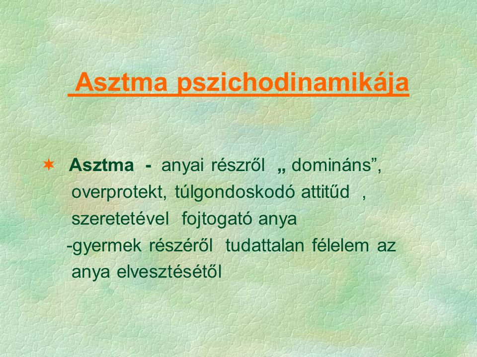 Asztma pszichodinamikája