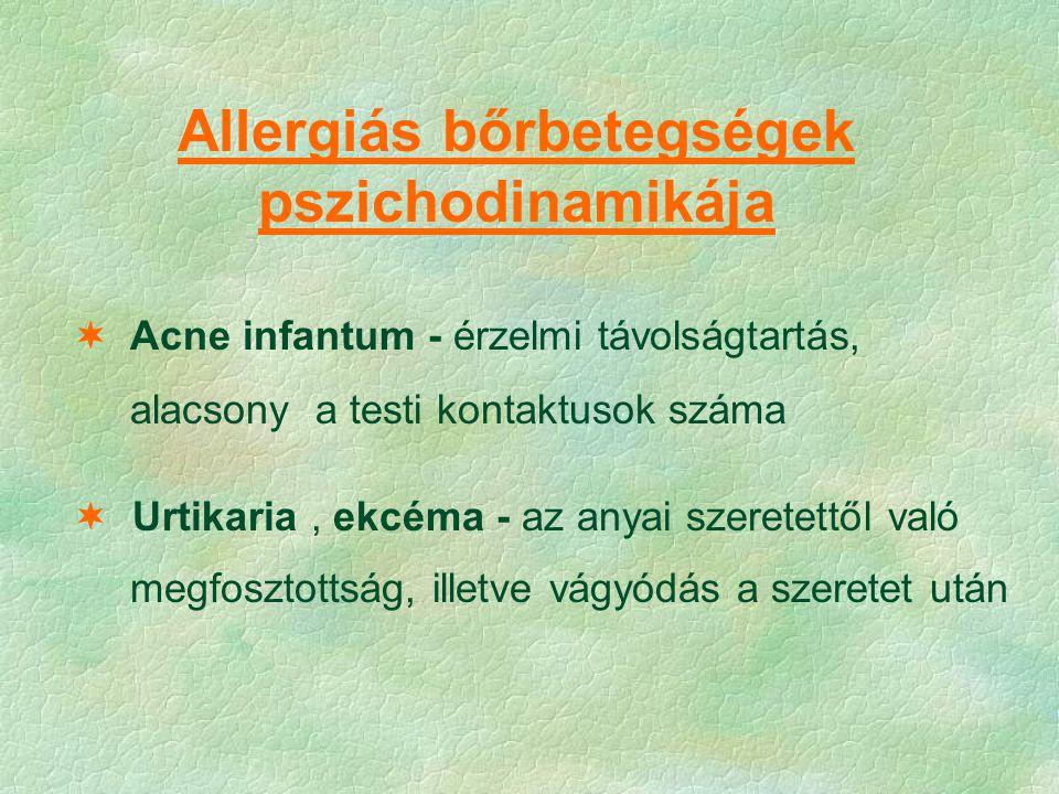 Allergiás bőrbetegségek pszichodinamikája