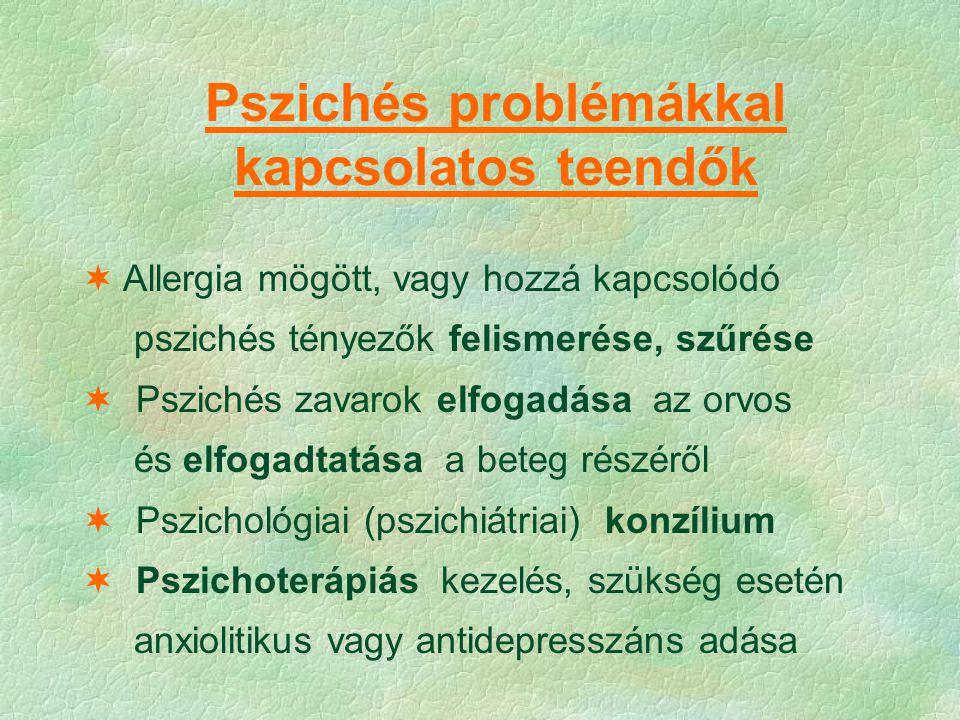 Pszichés problémákkal kapcsolatos teendők