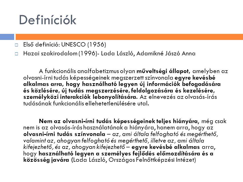 Definíciók Első definíció: UNESCO (1956)