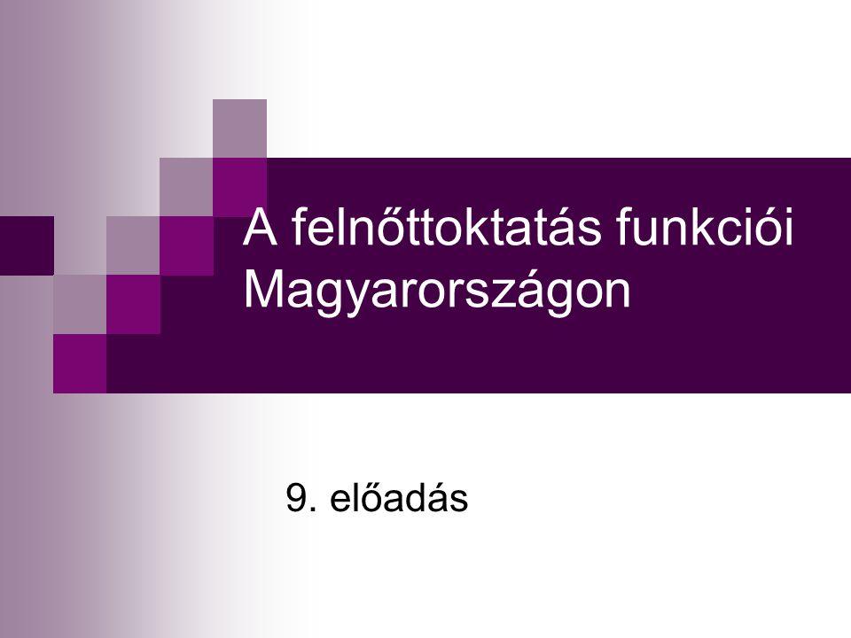 A felnőttoktatás funkciói Magyarországon