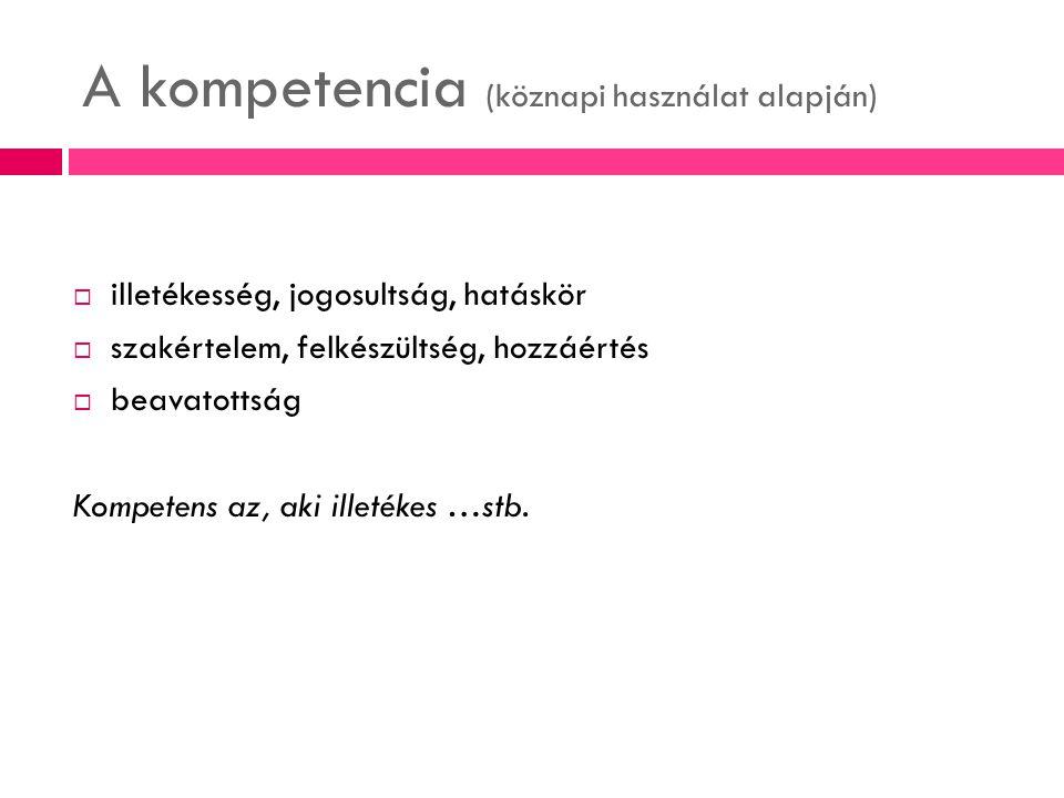 A kompetencia (köznapi használat alapján)