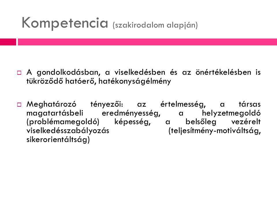 Kompetencia (szakirodalom alapján)