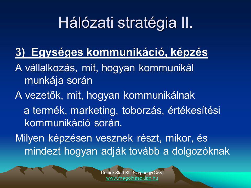 Remek Start Kft. Széphegyi Géza