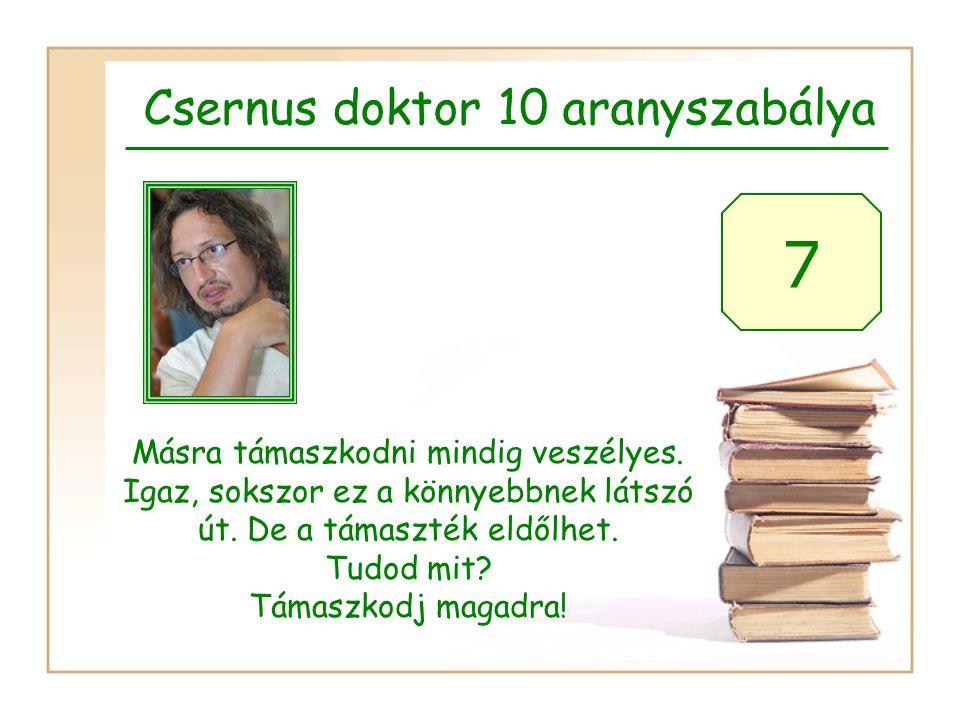 Csernus doktor 10 aranyszabálya