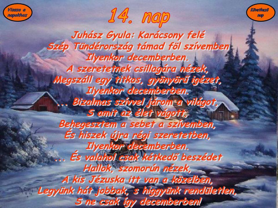 14. nap Juhász Gyula: Karácsony felé