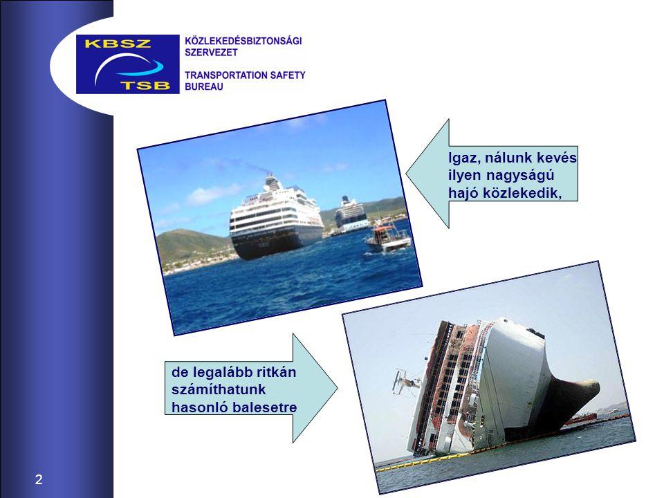 Igaz, nálunk kevés ilyen nagyságú hajó közlekedik,