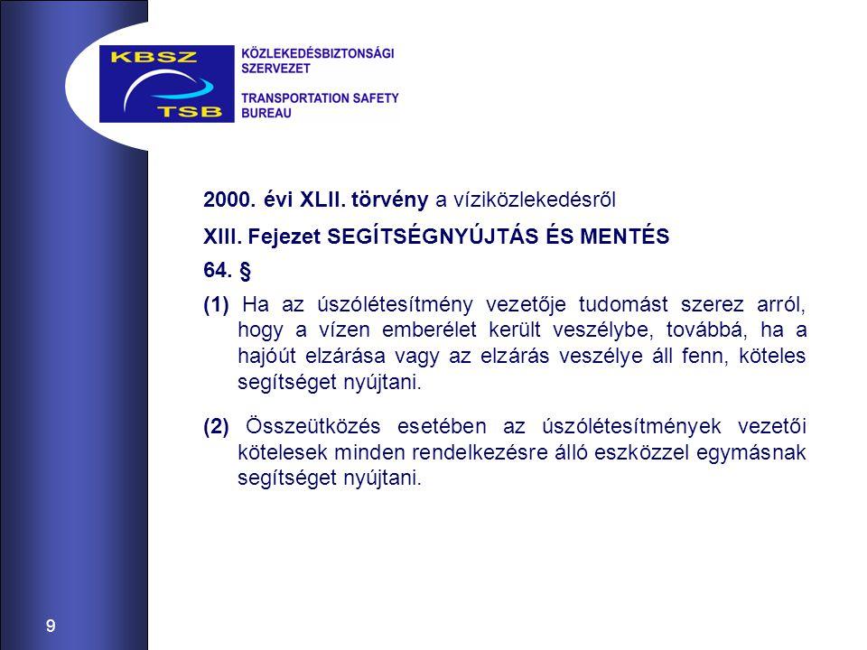 2000. évi XLII. törvény a víziközlekedésről