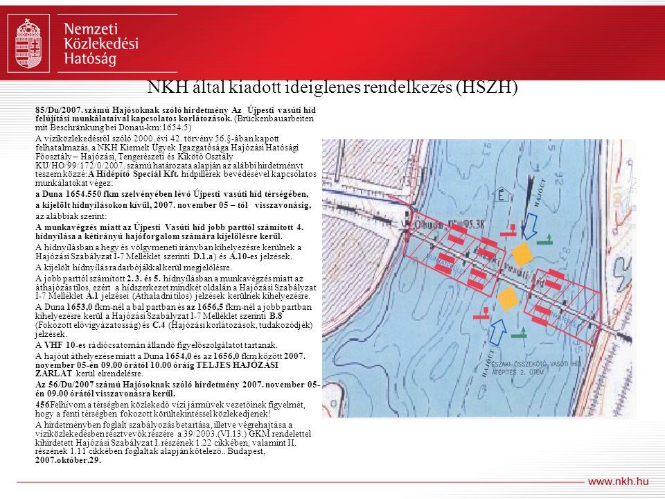 NKH által kiadott ideiglenes rendelkezés (HSZH)